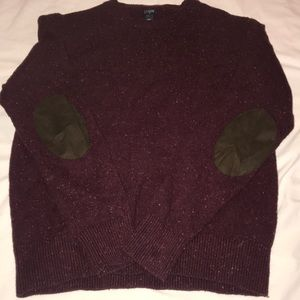 NWOT J Crew Crew Neck with Elbow Pads AL